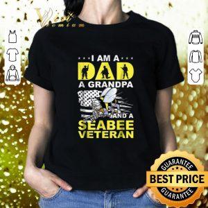Hot Bee i am a dad a grandpa and a seabee veteran shirt