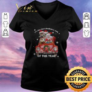 Hot Christmas Shih Tzu Santa its the most wonderful time of the year shirt