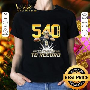 Hot Drew Brees NFL all time passing to record with 540th TD shirt 1