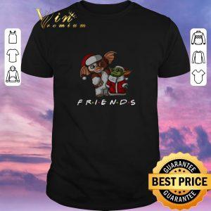 Hot Friends Baby Yoda and Gizmo Santa Christmas shirt sweater