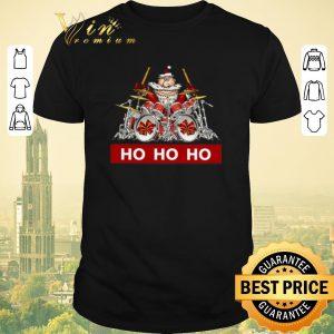 Hot HO HO HO Santa Claus playing drummer shirt