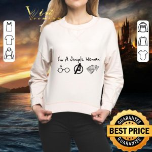 Hot I'm a simple woman Harry Potter Avengers Game Of Thrones shirt