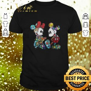 Hot Mickey and Minnie Mouse with all Disney characters shirt