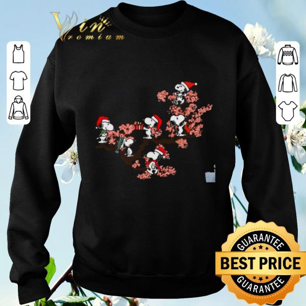 Hot Snoopy under cherry blossom shirt sweater
