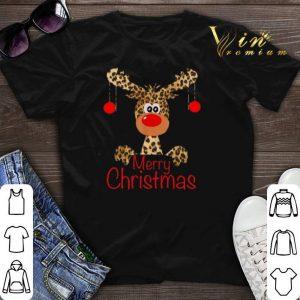 Merry Christmas Leopard Reindeer shirt