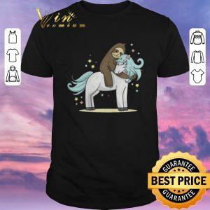 Nice Sloth riding unicorn shirt sweater