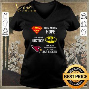 Official Arizona Cardinals Superman means hope Batman justice ass kicked shirt sweater