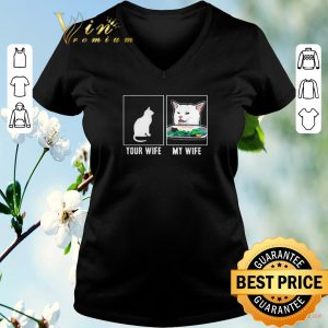 Official Cat your wife my wife Cat Yelling Woman Meme shirt sweater