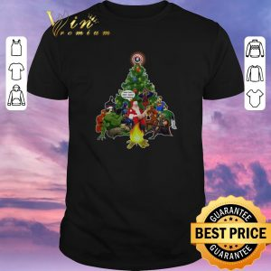 Official Christmas tree Santa Avengers and that's how I saved the world shirt