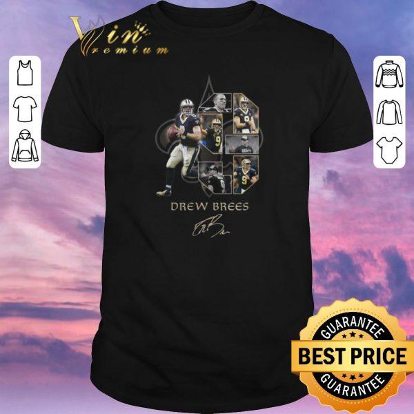 Official Drew Brees 9 signature New Orleans Saints logo shirt sweater