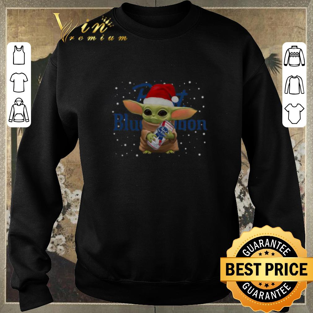 Original Baby Yoda Hug Pabst Blue Ribbon Christmas shirt sweater, hoodie, sweater, longsleeve t shirt