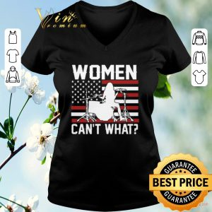 Original Female drummer women can't what American flag shirt sweater