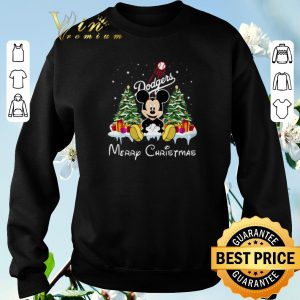 Original Merry Christmas Mickey Los Angeles Dodgers shirt 2