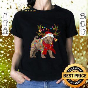 Original Shar pei reindeer Christmas merry and bright shirt