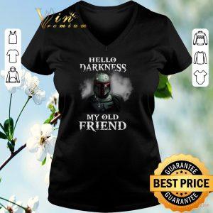 Original The Mandalorian hello darkness my old friends Boba Fett shirt sweater