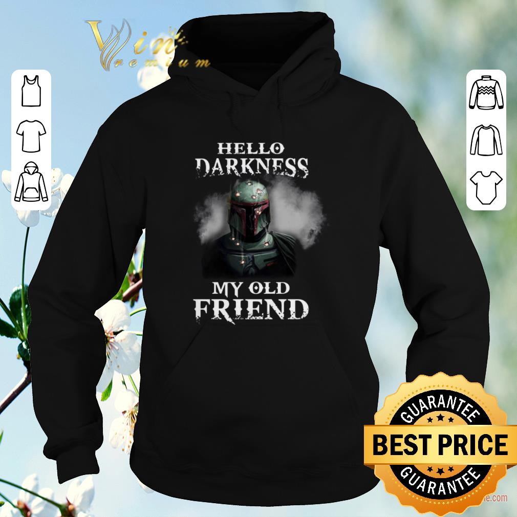 Original The Mandalorian hello darkness my old friends Boba Fett shirt sweater 4 - Original The Mandalorian hello darkness my old friends Boba Fett shirt sweater