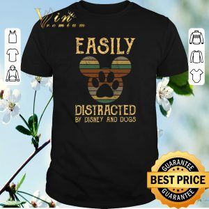 Original Vintage Mickey Easily distracted by Disney and dogs shirt