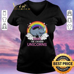 Original rhino save the chubby unicorns rainbow shirt sweater