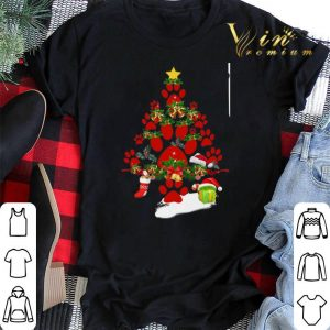 Paw dog Christmas tree gift shirt sweater 1