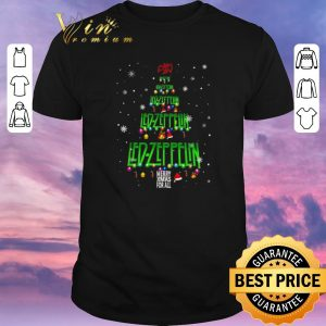 Premium Chirstmas tree Led Zeppelin Merry Xmax For All shirt