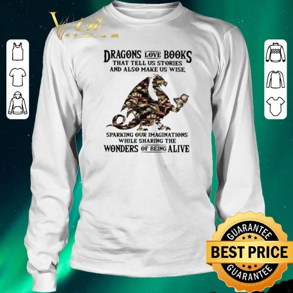 Premium Dragons love books that tell us stories and also make us wise shirt sweater