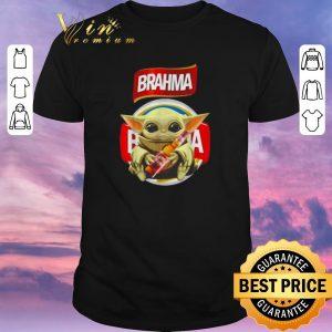 Premium Star Wars Baby Yoda hug Brahma Beer Mandalorian shirt sweater