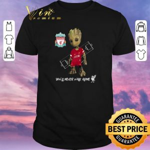 Premium You'll Never Walk Alone Baby Groot Little Liverpool shirt