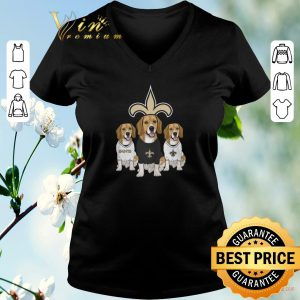 Pretty Beagle dogs New Orleans Saints shirt sweater 1