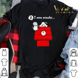 Snoopy 5 more minutes sleep on the red house shirt sweater