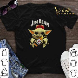 Star Wars Baby Yoda hug Jim Beam Mandalorian shirt sweater
