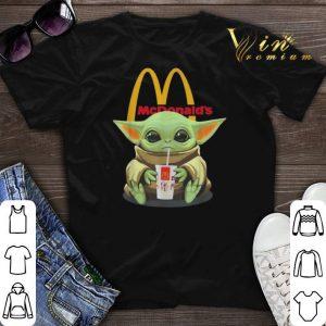 Star Wars Baby Yoda hug McDonald Mandalorian shirt sweater