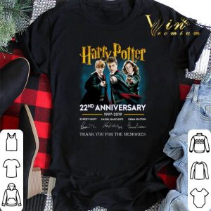 Thank you for the memories Harry Potter 22nd anniversary signed shirt
