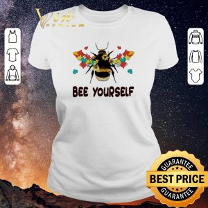 Top Autism Flower Bee Yourself Autism Awareness shirt sweater