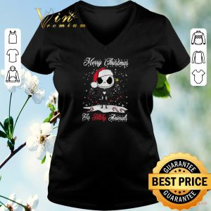 Top Jack Skellington Merry Christmas ya filthy animals shirt sweater