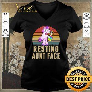 Top Unicorn Resting Aunt Face Vintage shirt sweater
