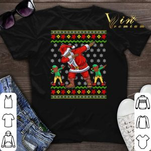 Ugly Christmas African American Dabbing Santa Elf sweater