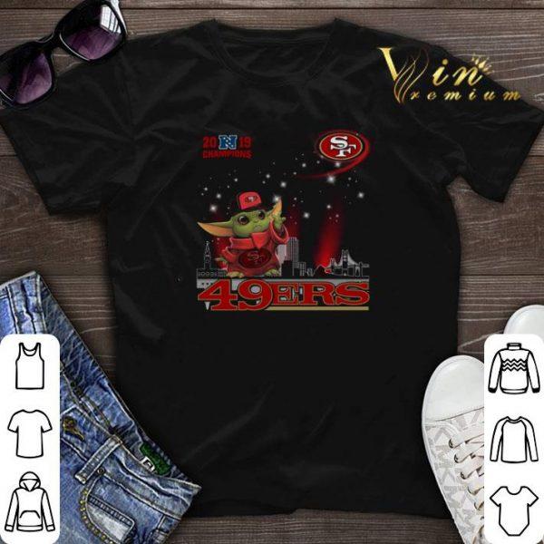 2019 Champions Baby Yoda San Francisco 49ers shirt sweater