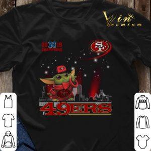 2019 Champions Baby Yoda San Francisco 49ers shirt sweater 2