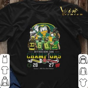 2019 Rose Bowl Game Champions Oregon Ducks vs Wisconsin 28 27 shirt sweater 2