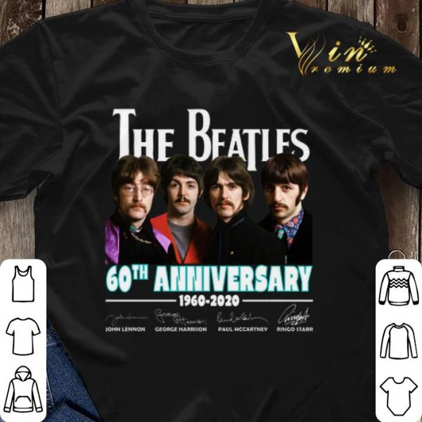 All member The Beatles 60th anniversary 1960 2020 signatures shirt sweater