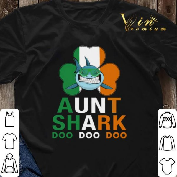 Aunt Shark Doo Doo Irish St Patricks Day shirt sweater