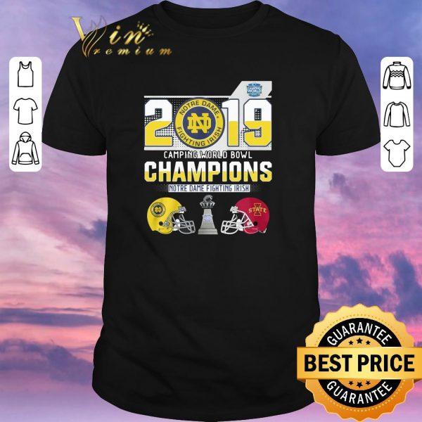 Awesome 2019 Camping World Bowl Champions Notre Dame Fighting Irish shirt sweater