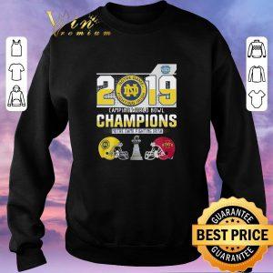 Awesome 2019 Camping World Bowl Champions Notre Dame Fighting Irish shirt sweater 2