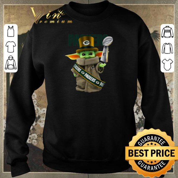 Awesome Baby Yoda Green Bay Packers Super Bowl LIV Star Wars.png sweater