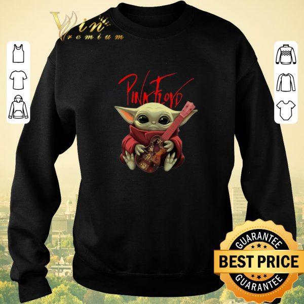 Awesome Baby Yoda Hug Pink Floyd Guitar Star Wars.png sweater
