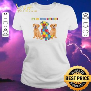 Awesome Golden Retriever It's ok to be different Autism Awareness shirt sweater