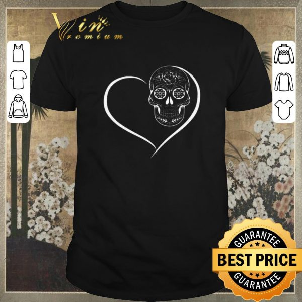 Awesome Heart Sugar Skull Love shirt sweater