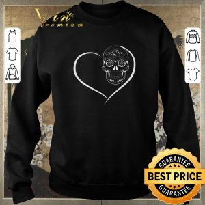 Awesome Heart Sugar Skull Love shirt sweater 2