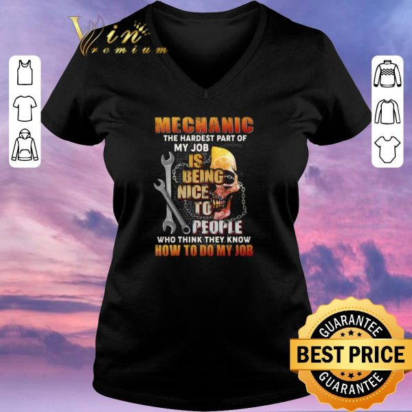 Awesome Skull mechanic the hardest part of my job is being nice people shirt sweater