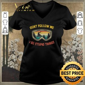 Awesome Snowboarding sunglasses don't follow me i do stupid things shirt sweater 1